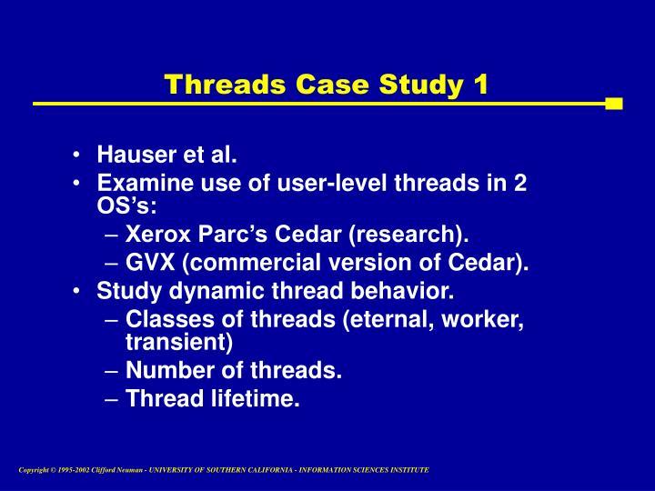 Threads Case Study 1