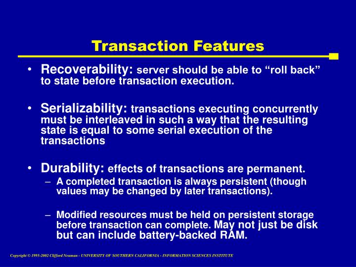 Transaction Features