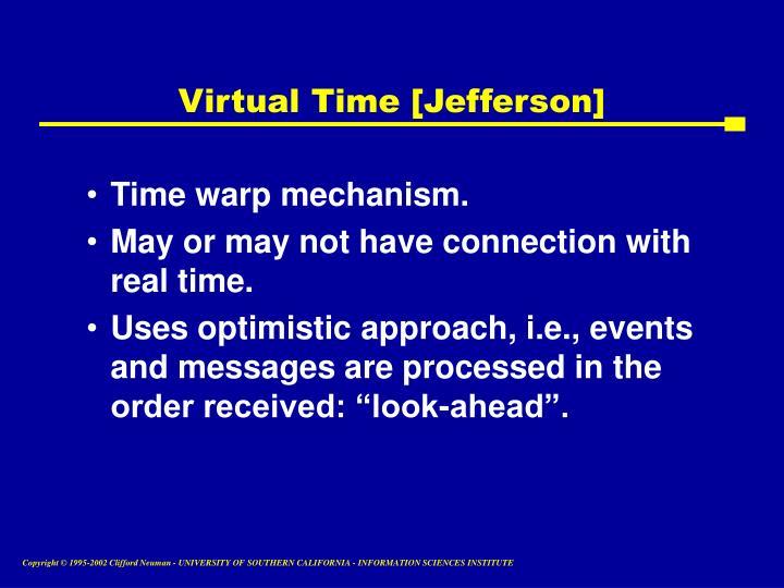 Virtual Time [Jefferson]