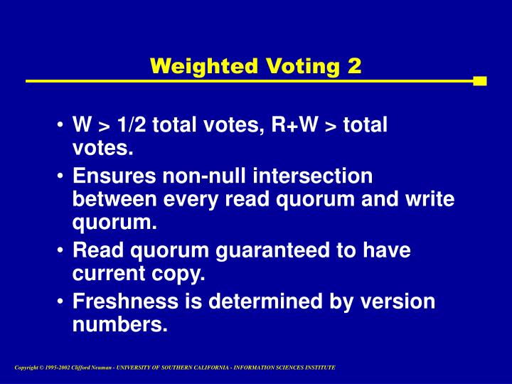 Weighted Voting 2