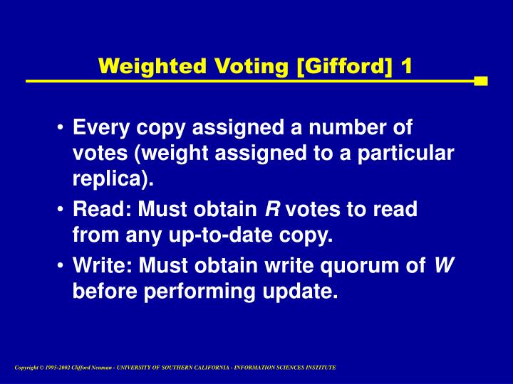 Weighted Voting [Gifford] 1