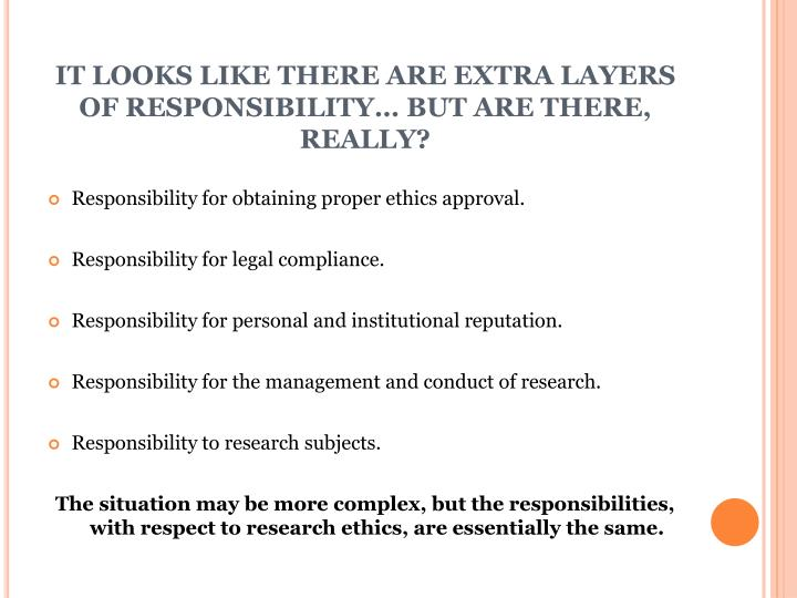 IT LOOKS LIKE THERE ARE EXTRA LAYERS OF RESPONSIBILITY… BUT ARE THERE, REALLY?