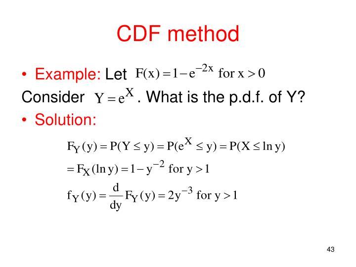 CDF method