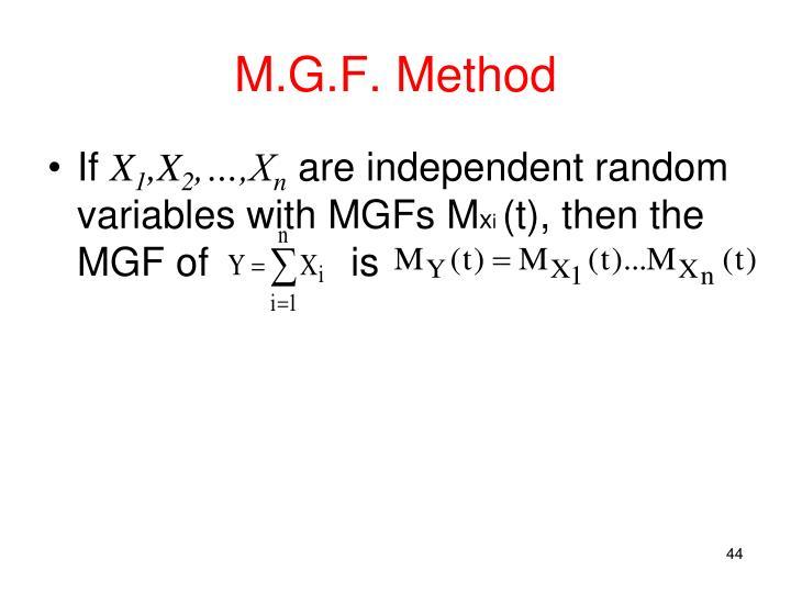 M.G.F. Method