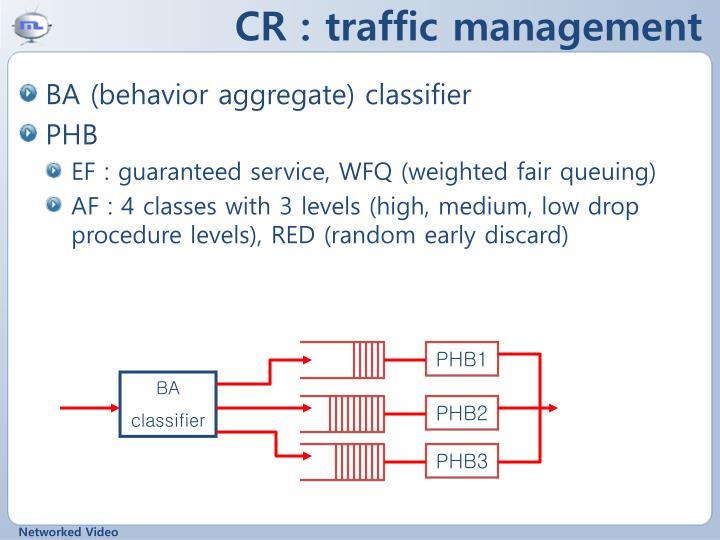CR : traffic management