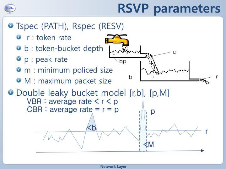 RSVP parameters