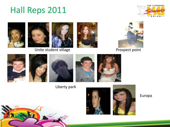 Hall Reps 2011