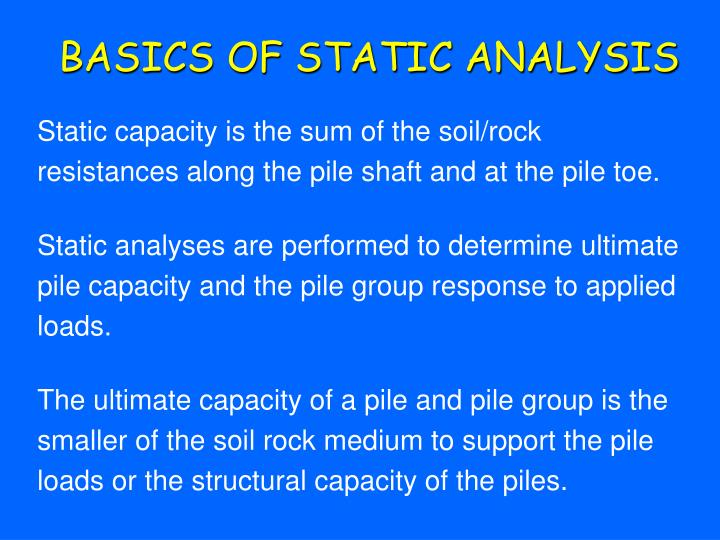 BASICS OF STATIC ANALYSIS