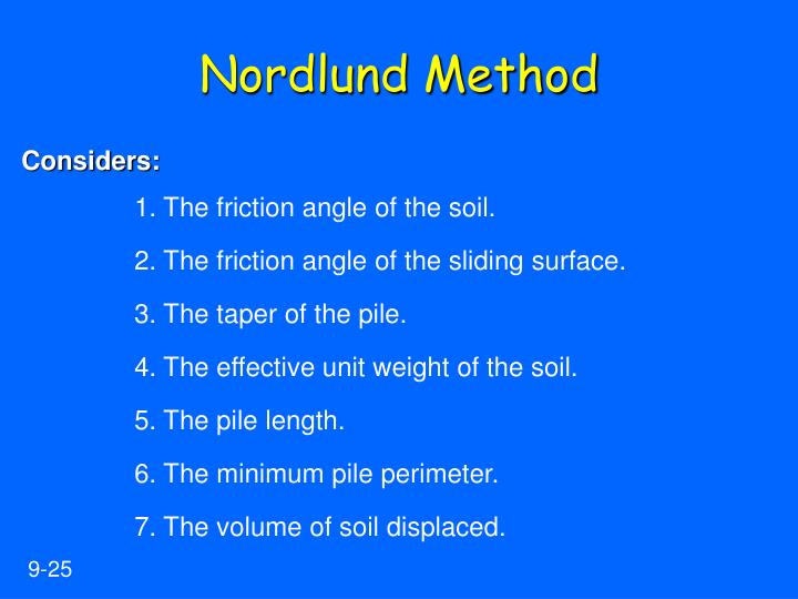 Nordlund Method