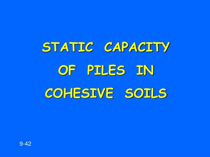 STATIC  CAPACITY