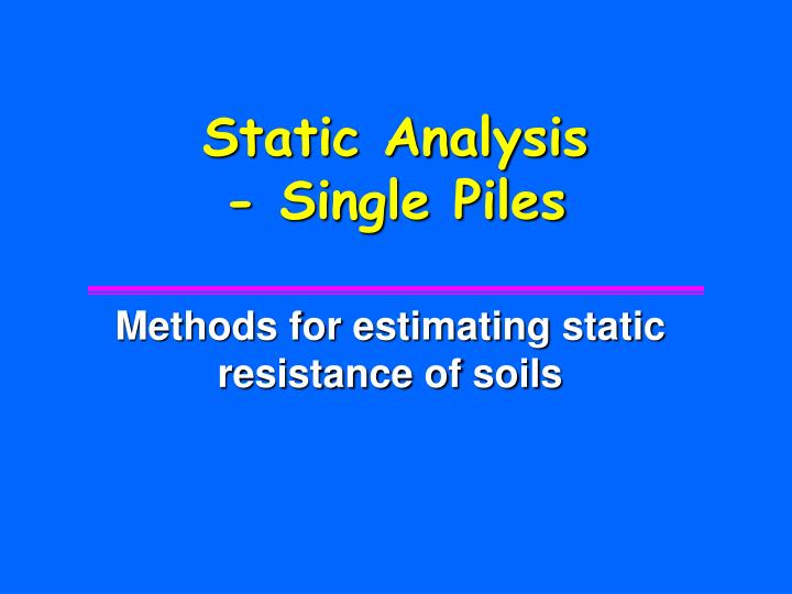 Static Analysis