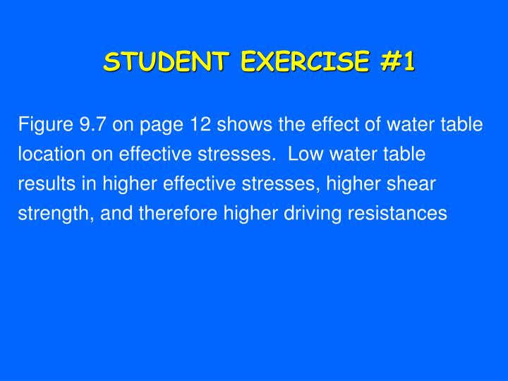 STUDENT EXERCISE #1