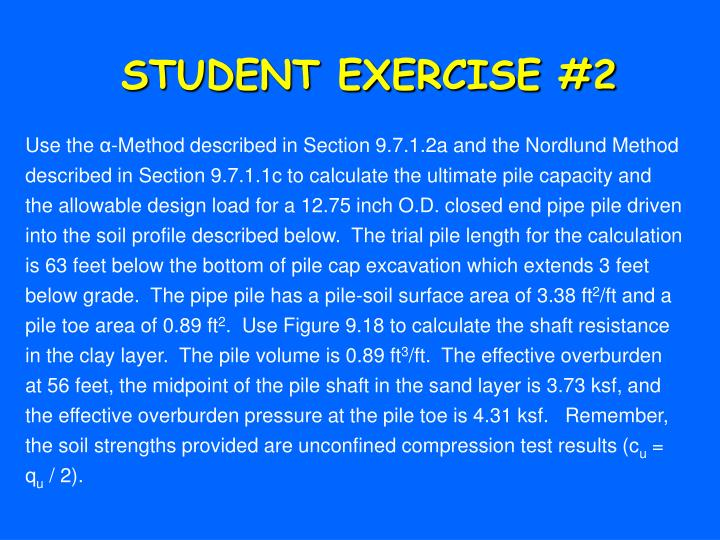 STUDENT EXERCISE #2