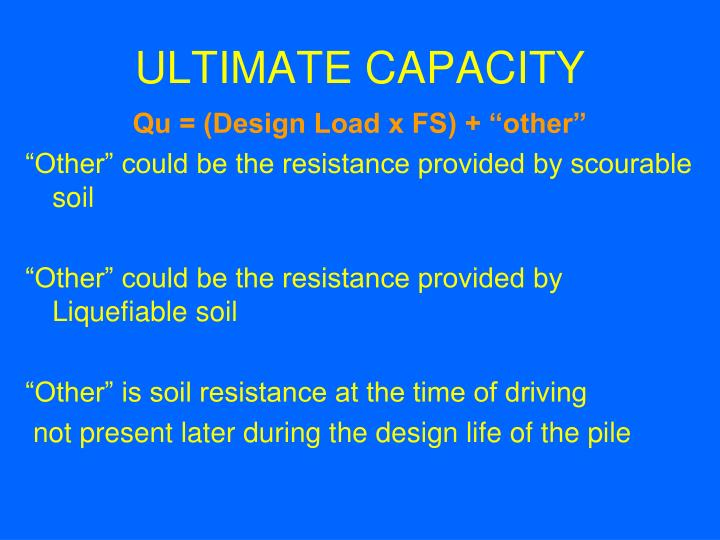 ULTIMATE CAPACITY