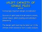 uplift capacity of single piles pg 9 81