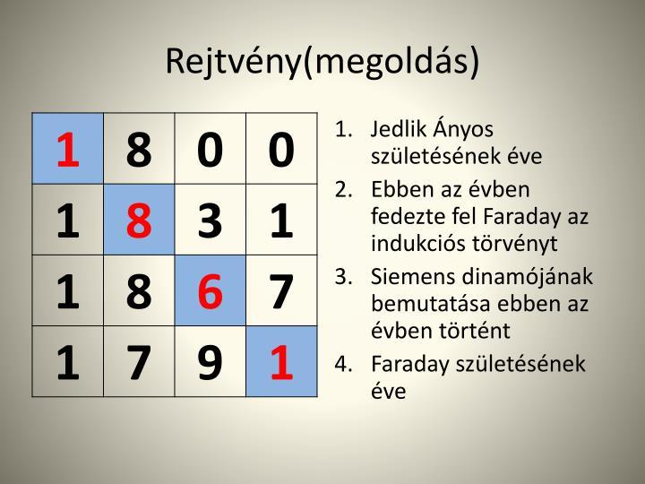 Rejtvény(megoldás)