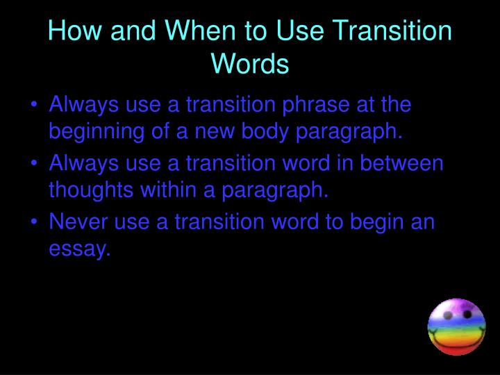 How and When to Use Transition Words