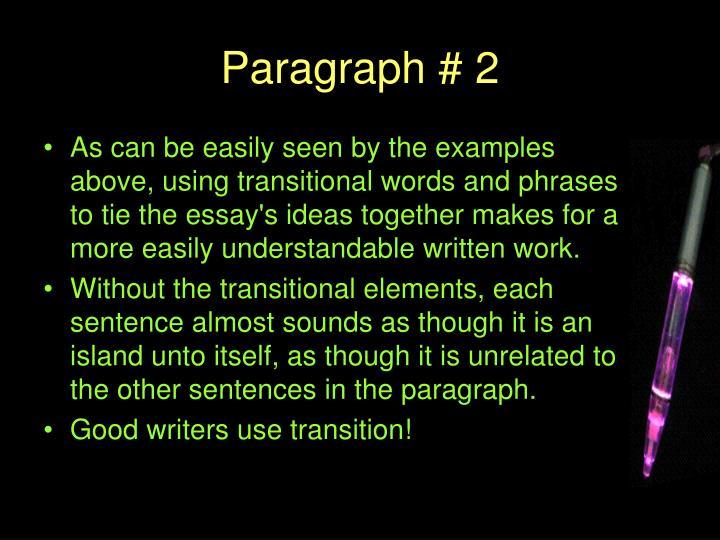 Paragraph # 2