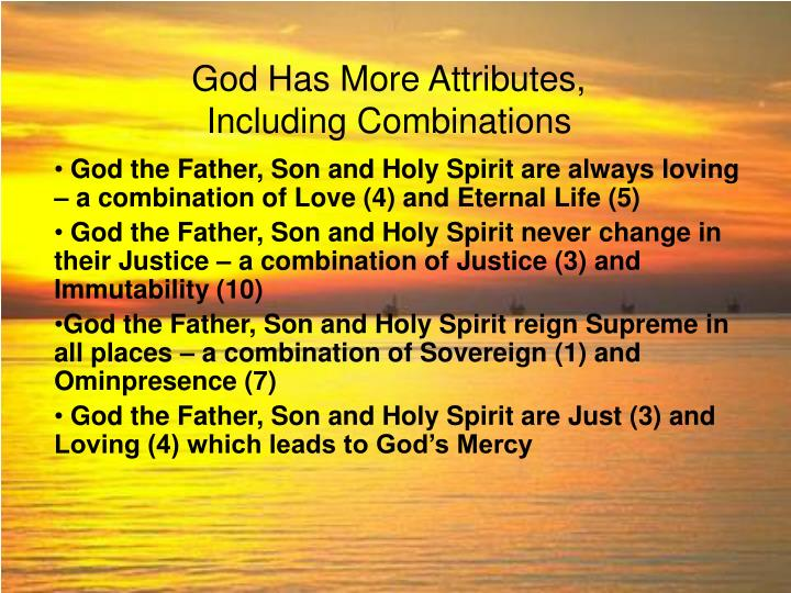 God Has More Attributes,