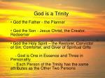 god is a trinity