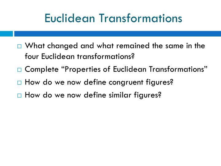 Euclidean Transformations