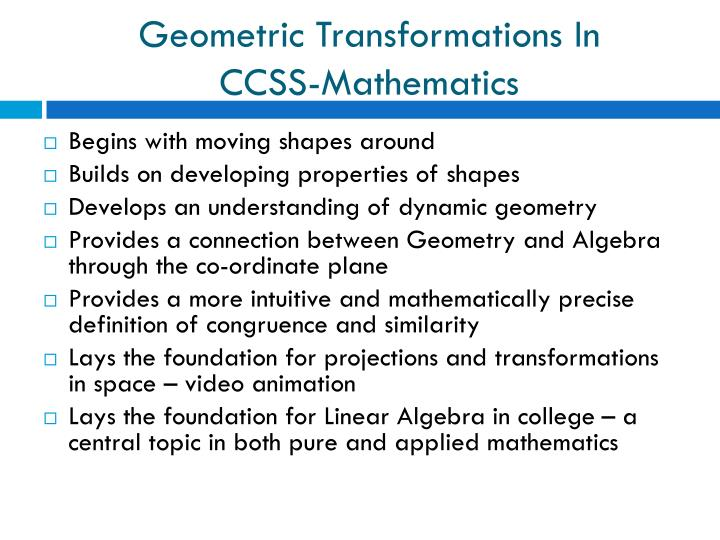 Geometric Transformations In