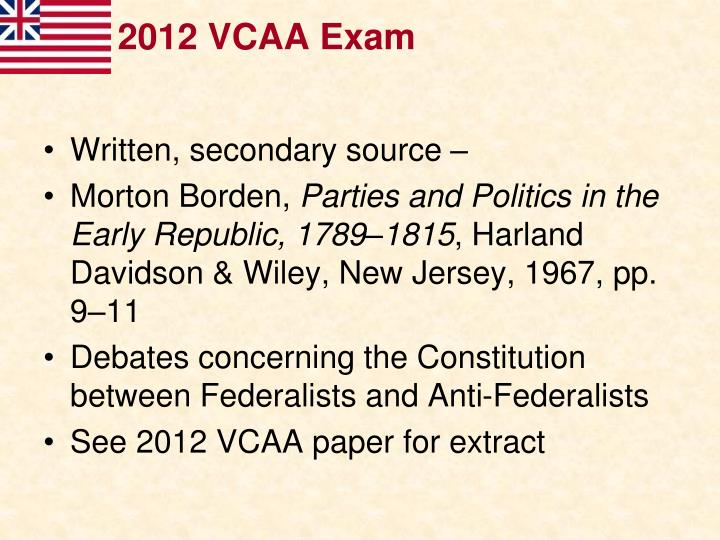 2012 VCAA Exam