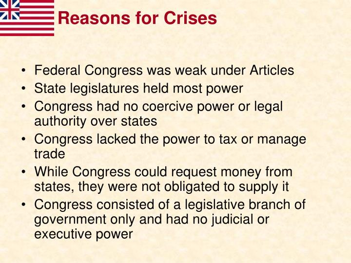 Reasons for Crises