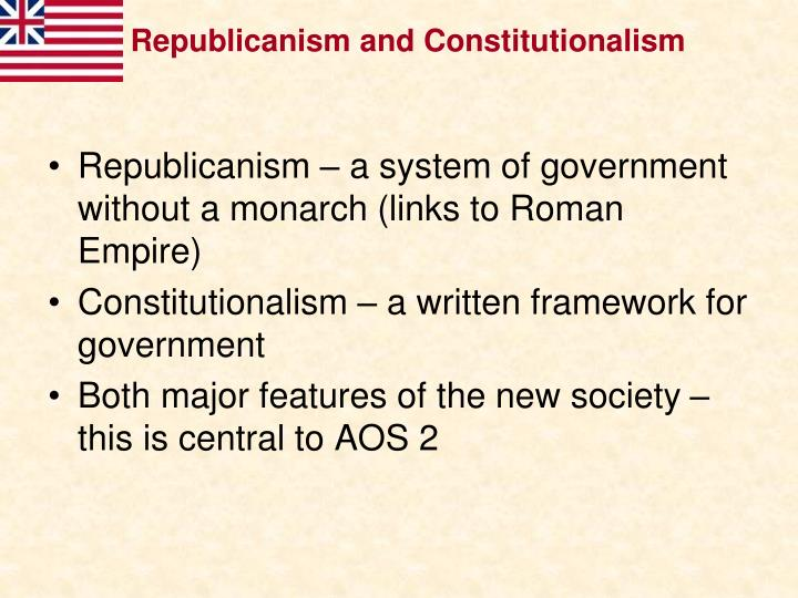 Republicanism and Constitutionalism