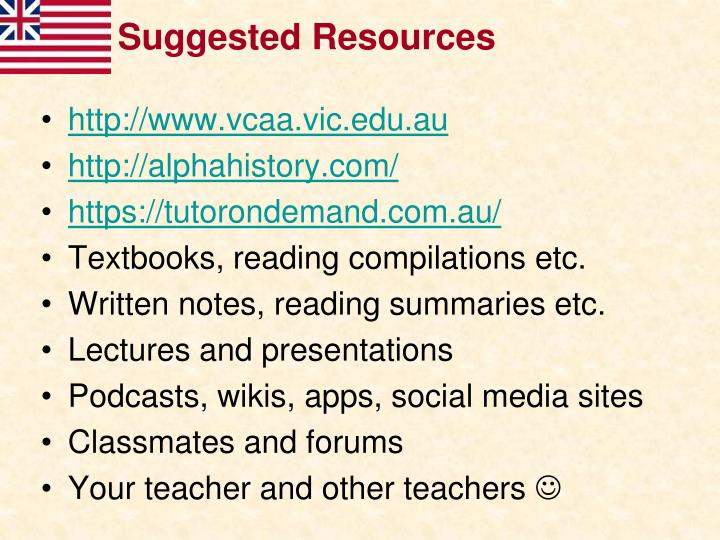Suggested resources