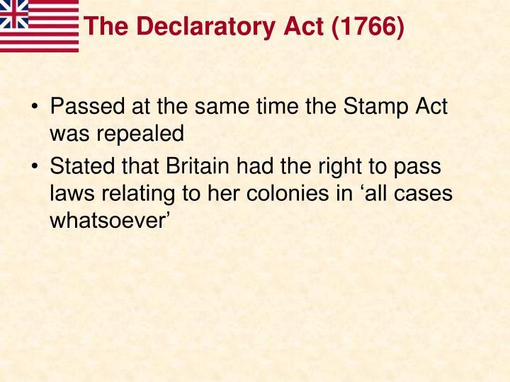 The Declaratory Act (1766)