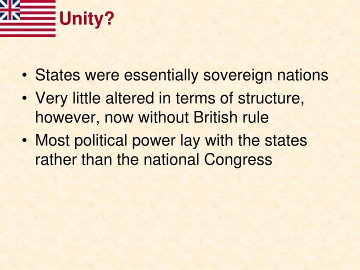 Unity?