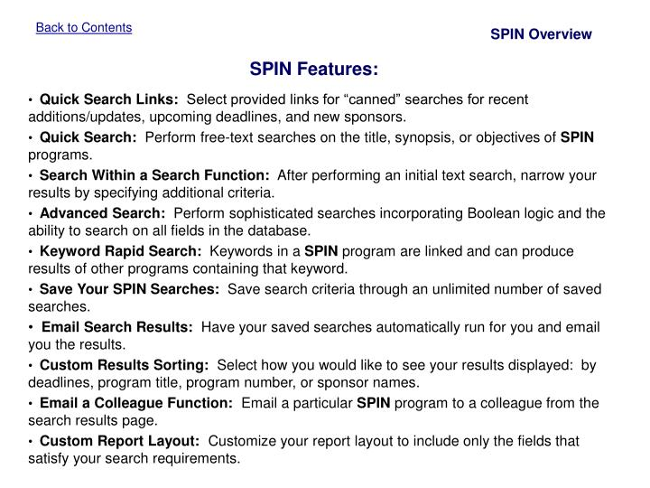 SPIN Overview