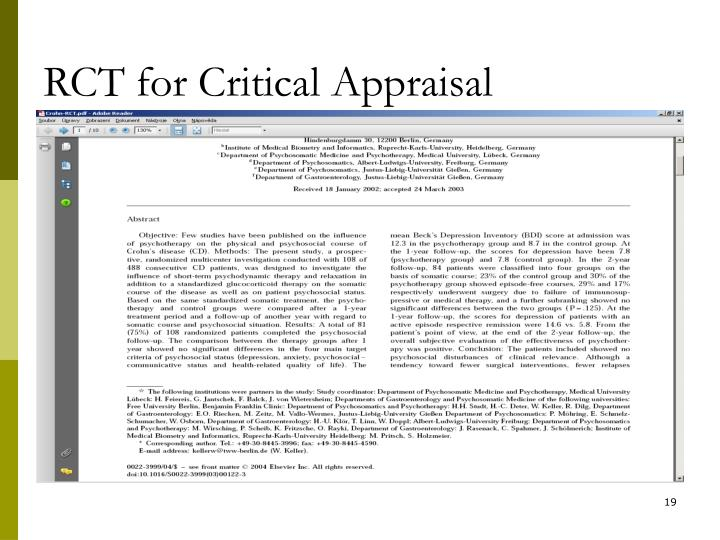 critical appraisal essay Long - term project critical appraisal sample essays of which can be used as a rule, particularly by commentators on ethnographic methods to questions of historical.