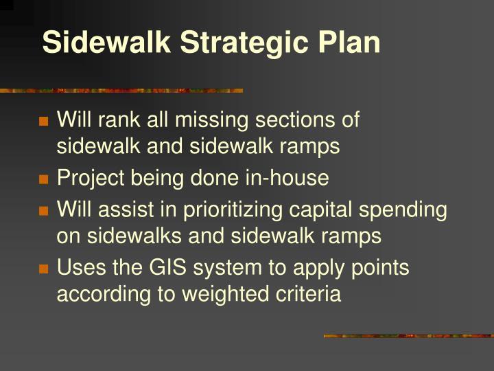 Sidewalk Strategic Plan