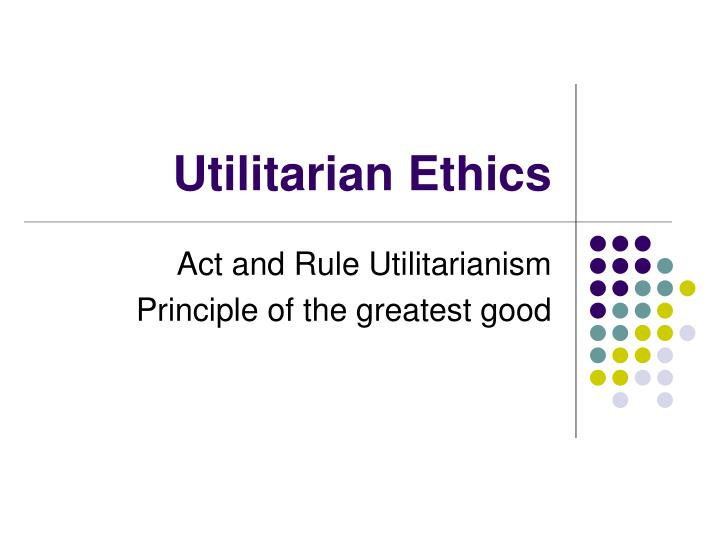 an examination of the separate relationship between utilitarianism and deontology