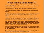 what will we do in astro 7