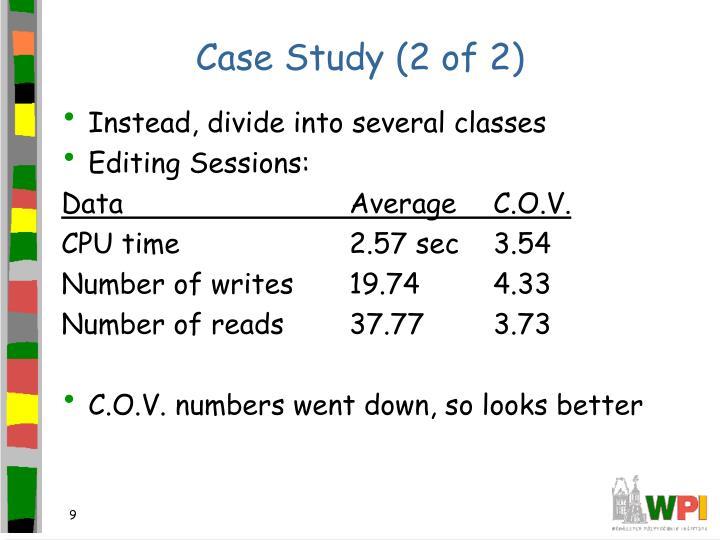 Case Study (2 of 2)