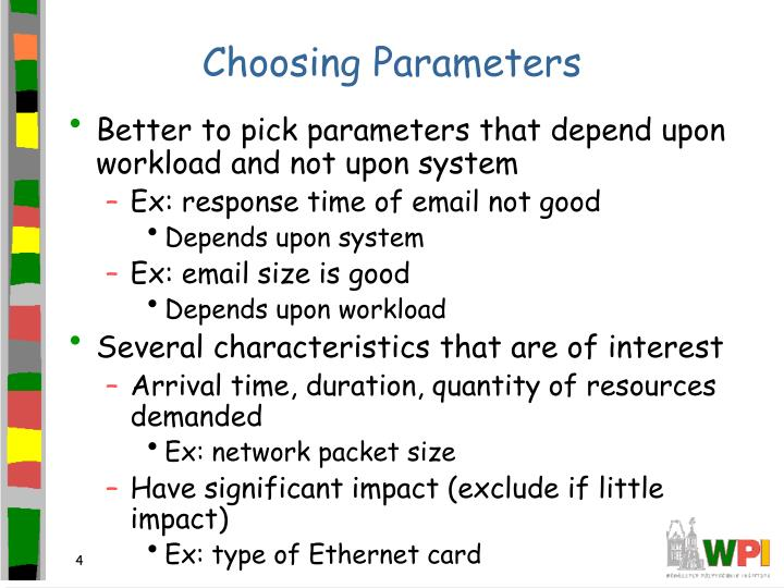 Choosing Parameters