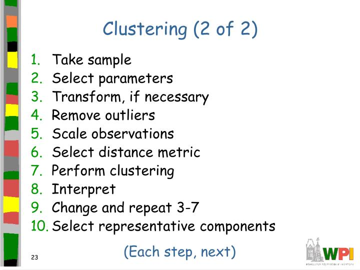 Clustering (2 of 2)
