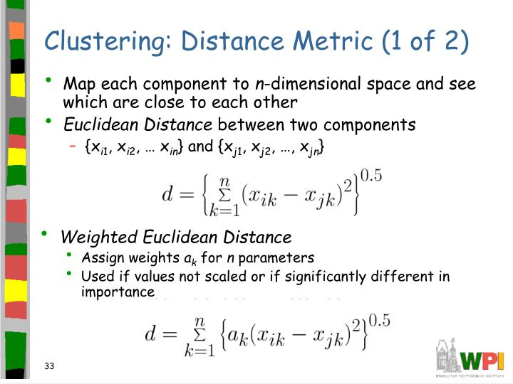 Clustering: Distance Metric (1 of 2)