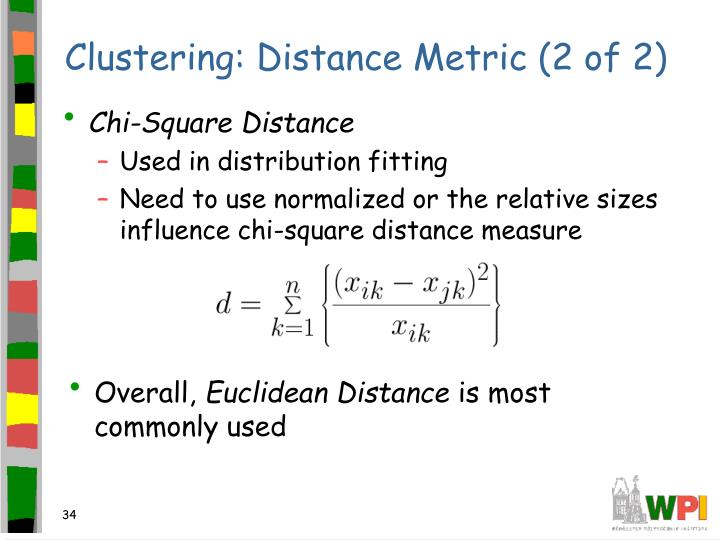 Clustering: Distance Metric (2 of 2)