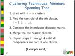 clustering techniques minimum spanning tree