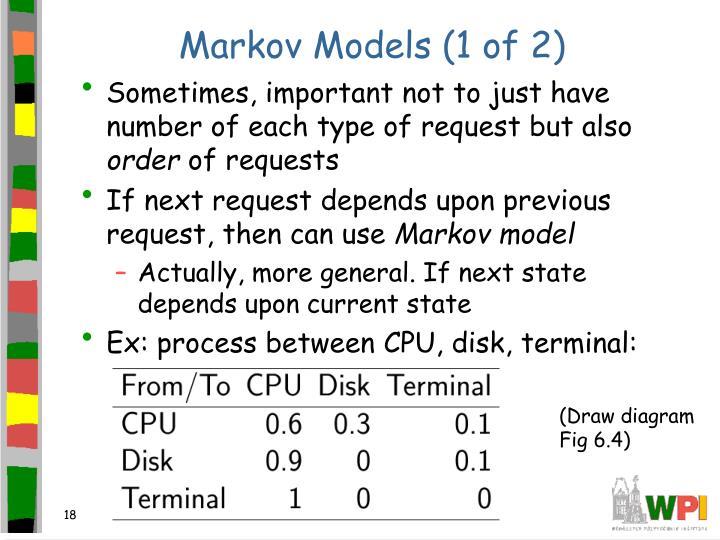 Markov Models (1 of 2)