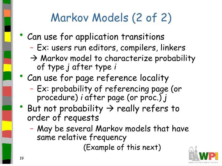 Markov Models (2 of 2)
