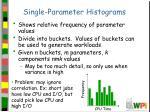 single parameter histograms