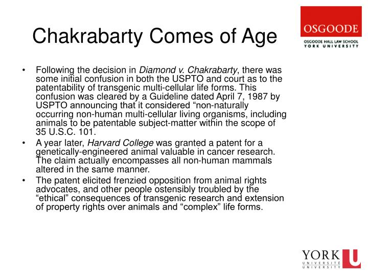 Chakrabarty Comes of Age