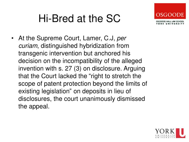 Hi-Bred at the SC