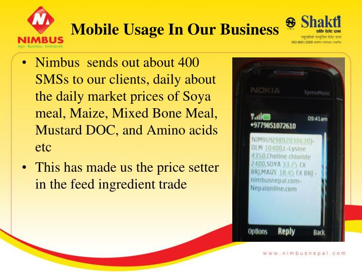 Mobile Usage In Our Business
