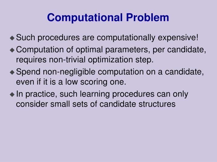 Computational Problem